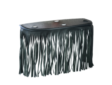 B1005 Black Leather Floor Boards With Fringe - Large [50% Off]