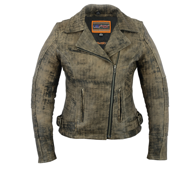 Women's Updated Stylish Antique Brown M/c Jacket [50% Off]