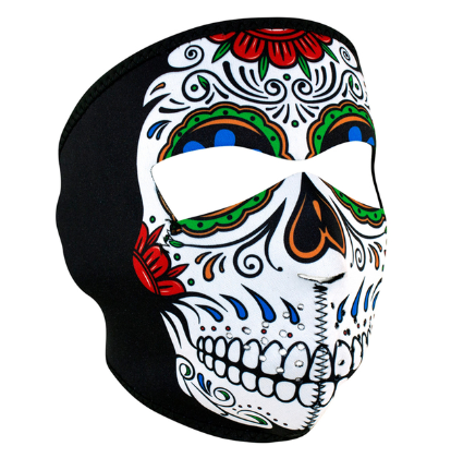 WNFM413 ZAN® Full Mask- Neoprene- Muerte Skull [50% Off]