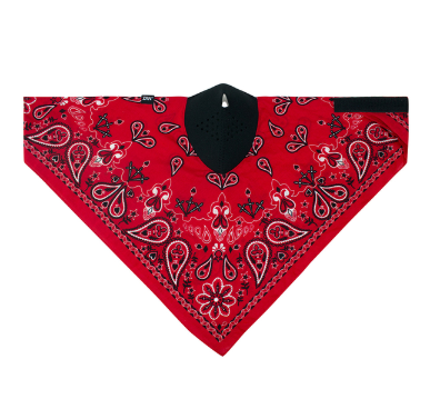 WNEO106 Neodanna Mask- Cotton/neoprene- Red Paisley [50% Off]