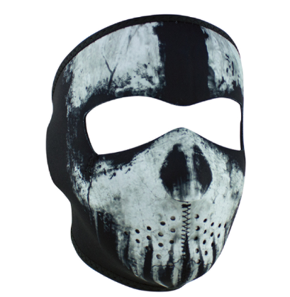 WNFM409 ZAN® Full Mask- Neoprene- Skull Ghost  Half Mask- Neoprene- Patriot [50% Off]