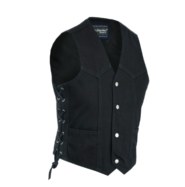 Kid's Denim Side Lace Vest [50% Off]