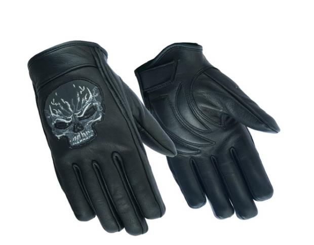 Reflective Skull Short Glove [50% Off]
