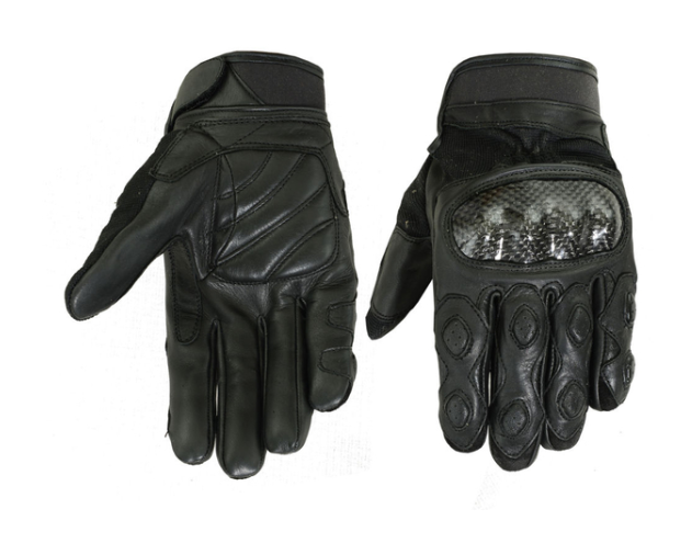 Leather/ Textile Sporty Glove [50% Off]
