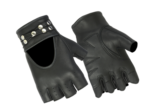 Women's Fingerless Glove With Rivets Detailing [50% Off]