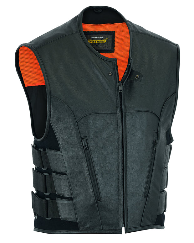 Men's Updated Leather Swat Team Style Vest [50% Off]