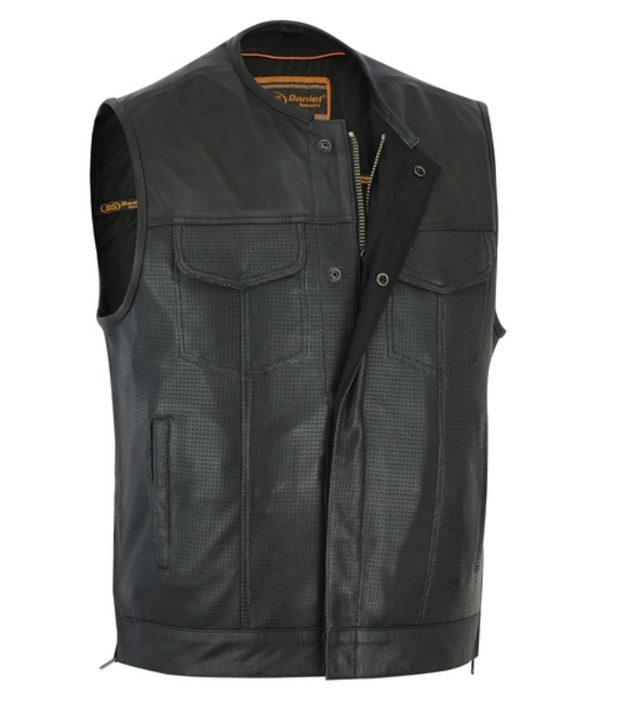 Mens Premium Perforated Single Back Panel Concealment Vest [50% Off]