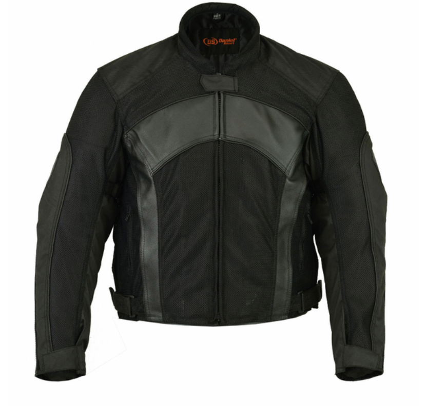 Mens Mesh Leather Padded Jacket [50% Off]