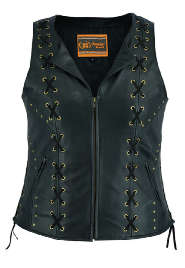Women's Zippered Vest with Lacing [50% Off]