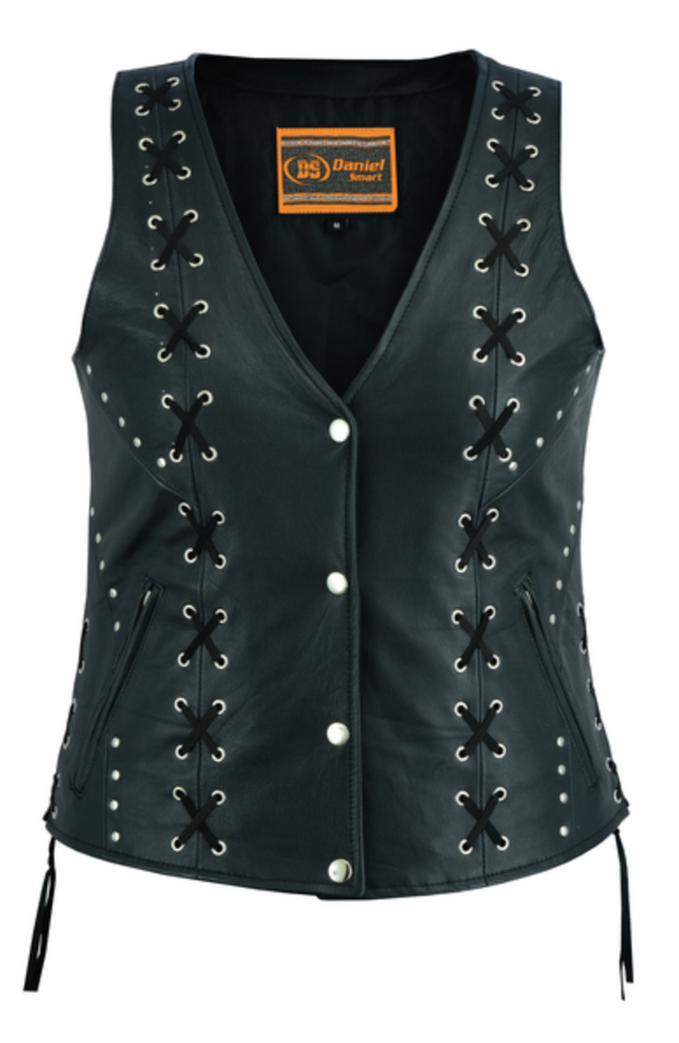 Women's Open Neck Vest with Lacing [50% Off]