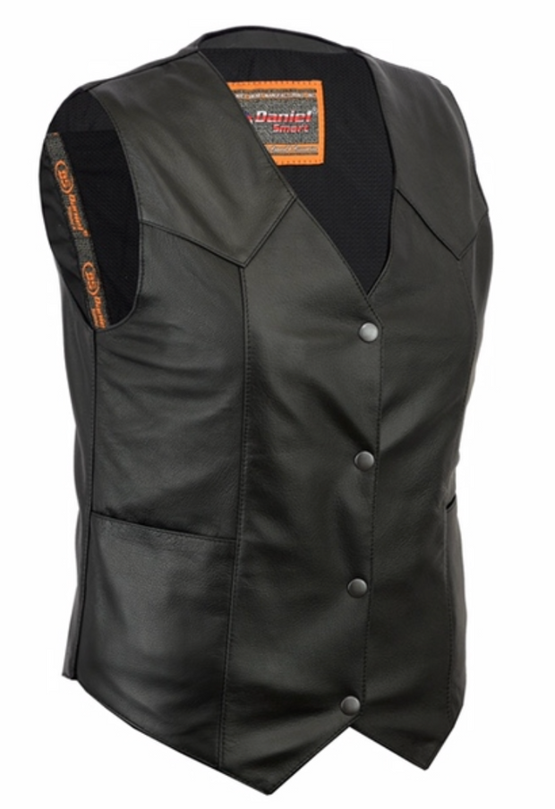 Women's Classic Plain Side Vest