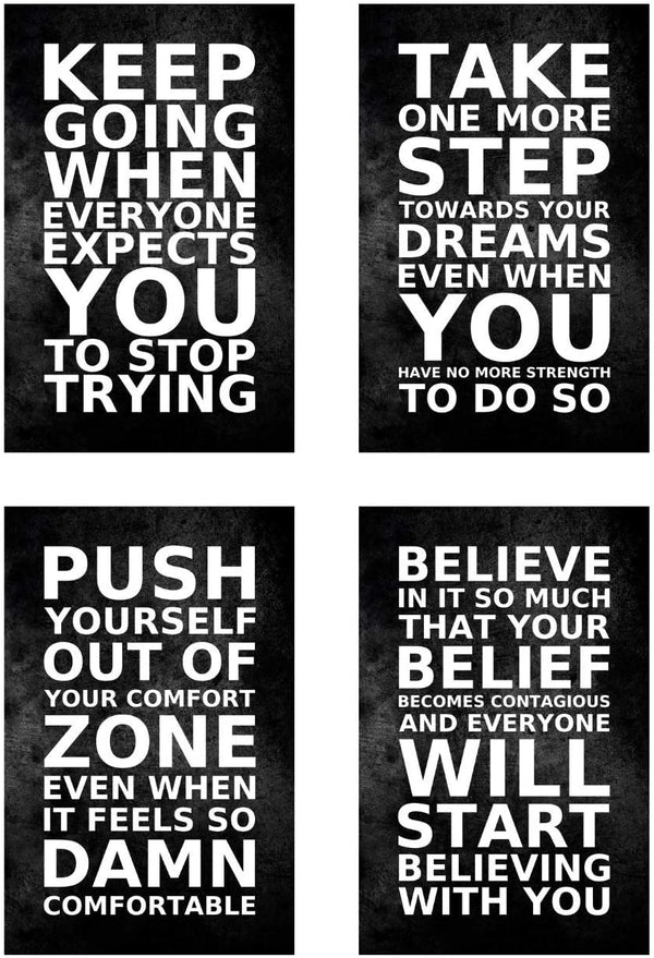 Set of 4 Motivational Typography Posters - MOTIVORIZE™