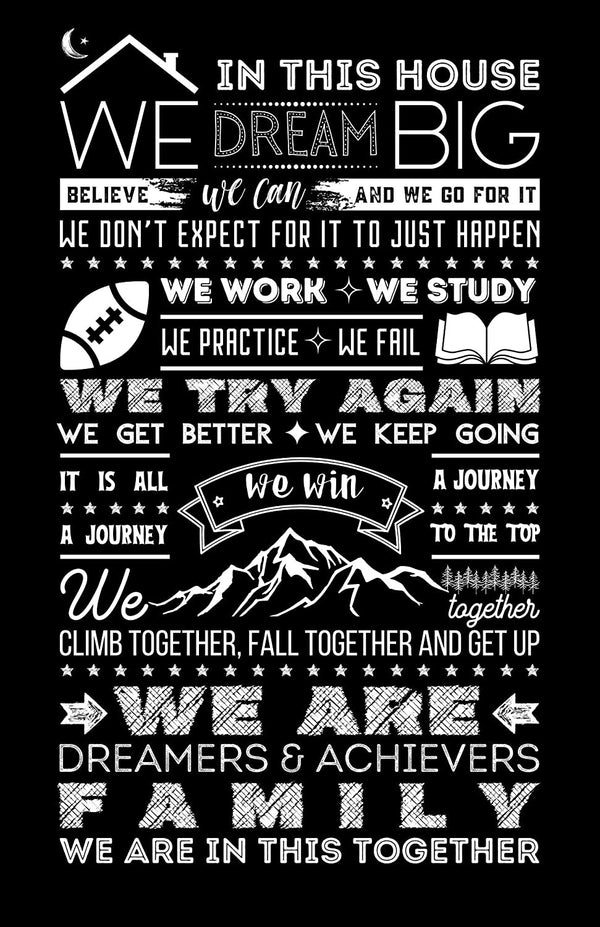 House Rules Poster - Black - MOTIVORIZE™