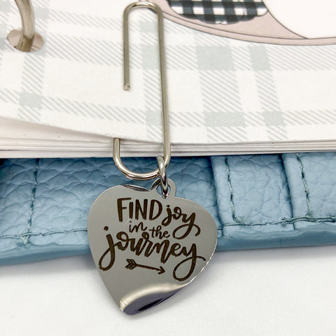 Find Joy in the Journey - Planner Dangle Clip/Charm