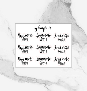 Buy More Washi - Handlettered Script Stickers