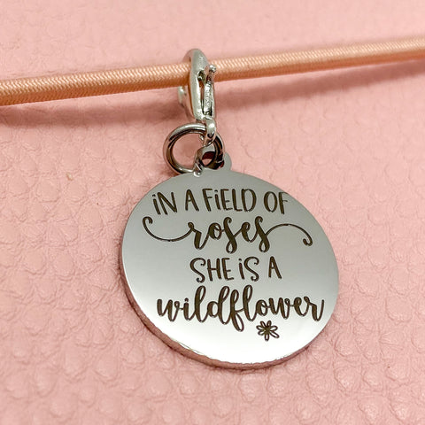 In a Field of Roses - Planner Dangle Clip/Charm