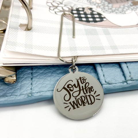 Joy to the World - Planner Dangle Clip/Charm