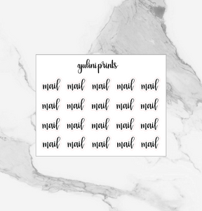 Mail - Handlettered Script Stickers