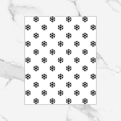 Snowflake - Foiled Patterned Vellum