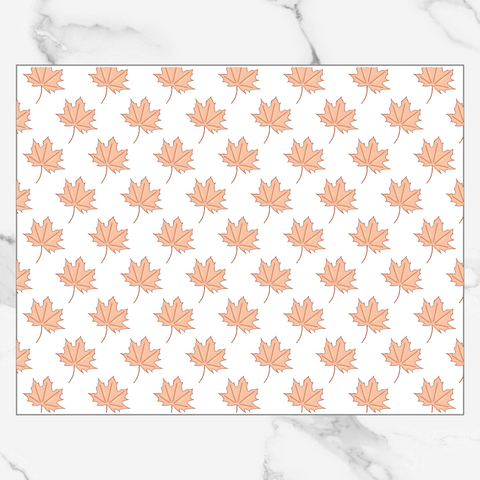 Fall Leaves - Patterned Vellum