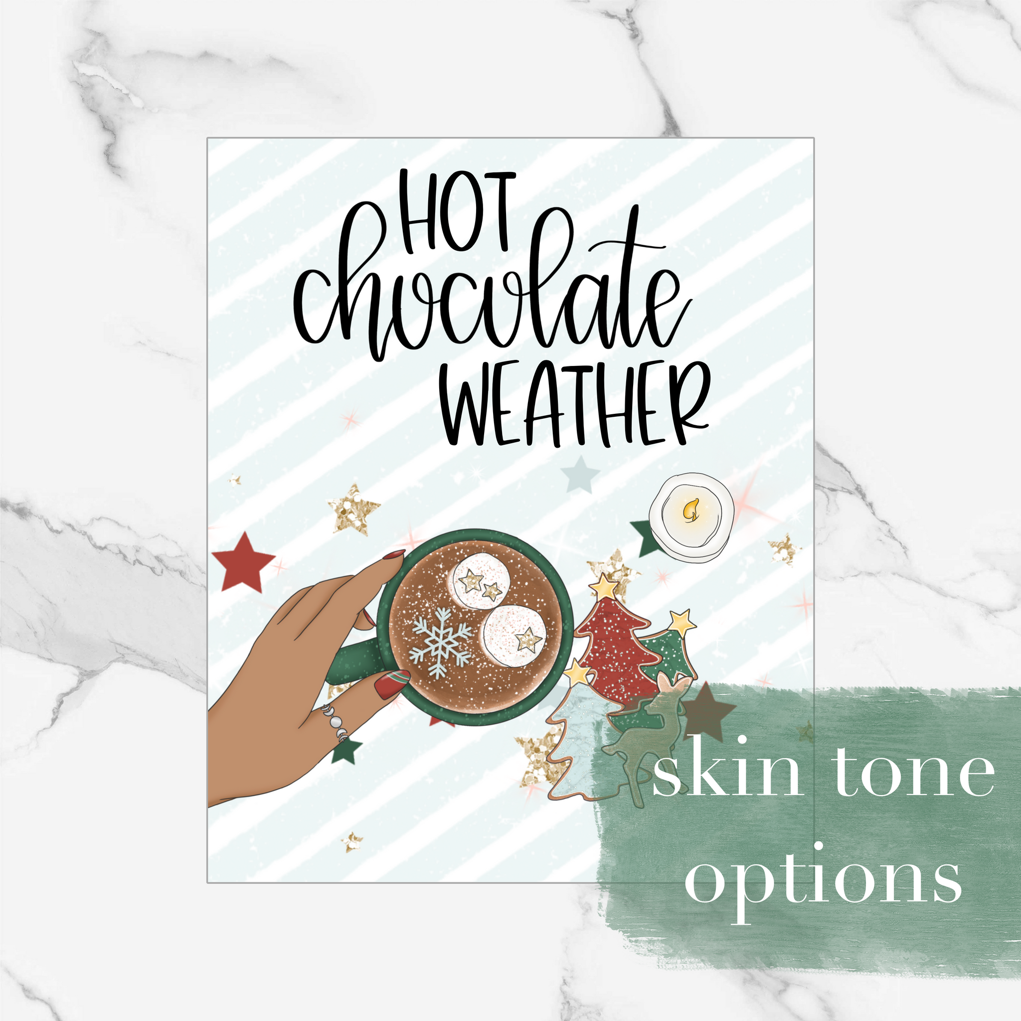 Hot Chocolate Weather - Foiled Dashboard/Vellum