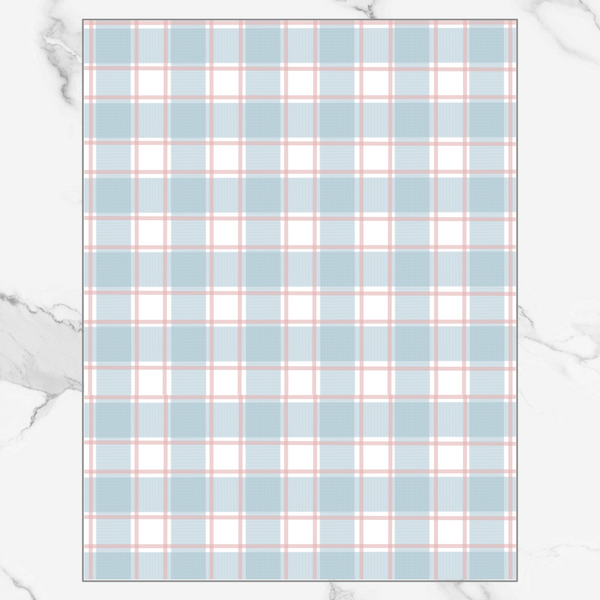 Plaid (different colors) - Patterned Vellum