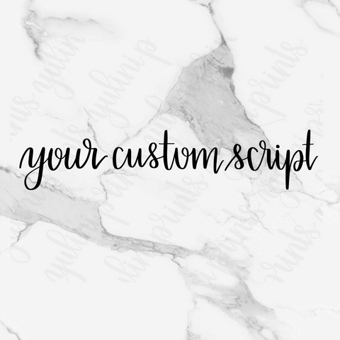 Choose Your Phrase - Custom Handlettered Script Stickers
