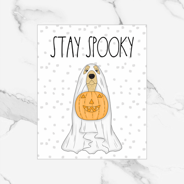 Spooky Pet - One Foiled Dashboard/Vellum