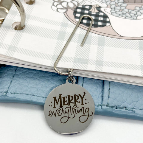 Merry Everything - Planner Dangle Clip/Charm