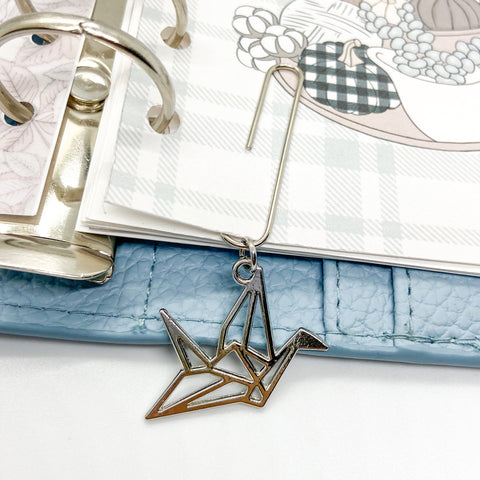 Origami Crane - Planner Dangle Clip/Charm