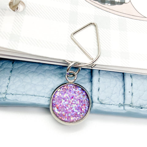 Purple Druzy - Planner Dangle Clip/Charm
