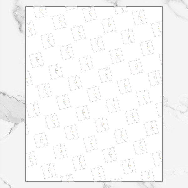 Scalloped Planner - Patterned Vellum
