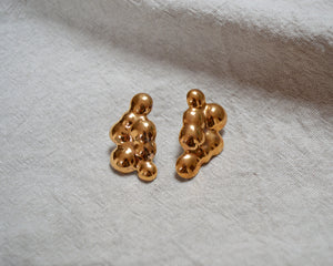 CLOUDS Ora d'Oro porcelain earrings with gold