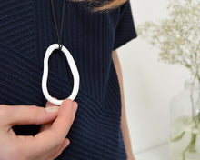 Load image into Gallery viewer, LOOP Minimalist porcelain necklace
