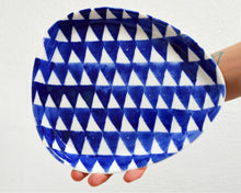 Load image into Gallery viewer, TRIANGLE Porcelain Plate - Blue