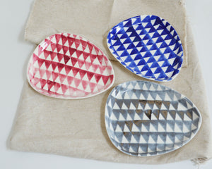 TRIANGLE Porcelain Plate - Blue