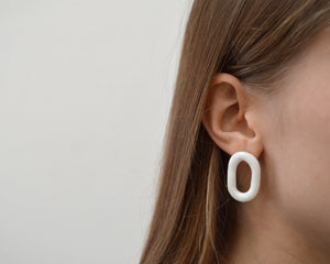 LOOP Minimalist porcelain earrings