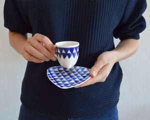 TRIANGLE Porcelain espresso cup with saucer