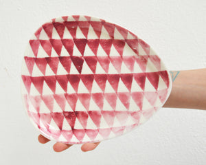 TRIANGLE Porcelain Plate - Pink