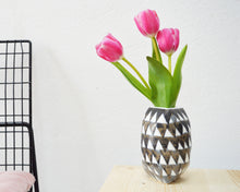Load image into Gallery viewer, TRIANGLE Porcelain Flower Vase - Grey