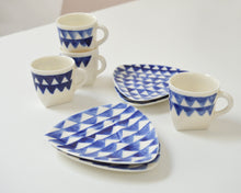 Load image into Gallery viewer, TRIANGLE Porcelain espresso cup with saucer