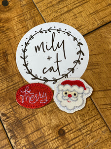 Be Merry and Santa 🎅🏻 Claus Badge Buddies