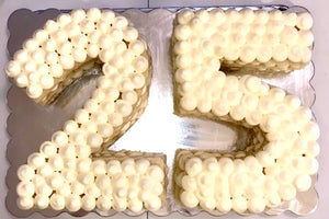 Frosted Double Number Cake