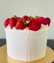 Load image into Gallery viewer, Strawberry + Rose Cake