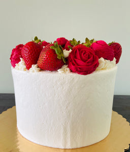 Strawberry + Rose Cake