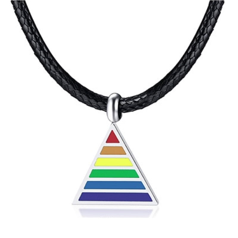 Collier Triangle LGBT