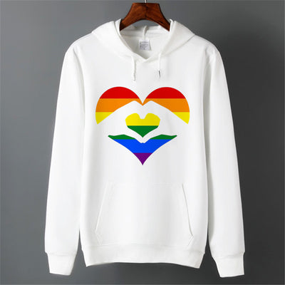 Sweat LGBT <br/> Mains en forme de Coeur