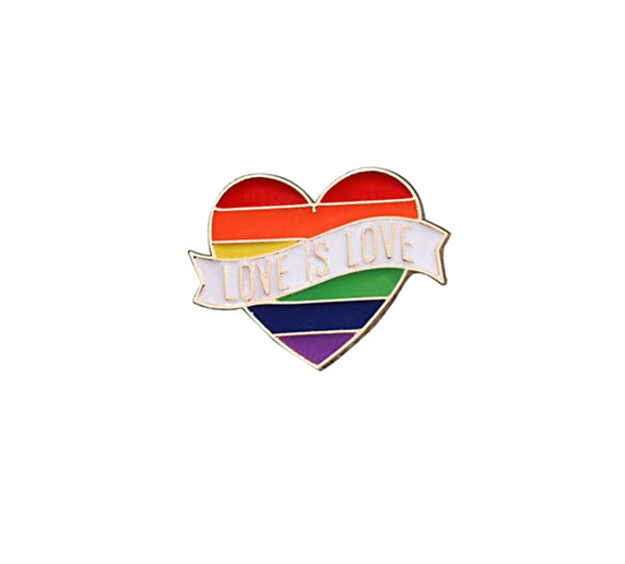 Pins Coeur Love Is Love