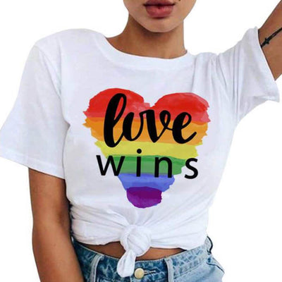 T-Shirt Love Wins Noir