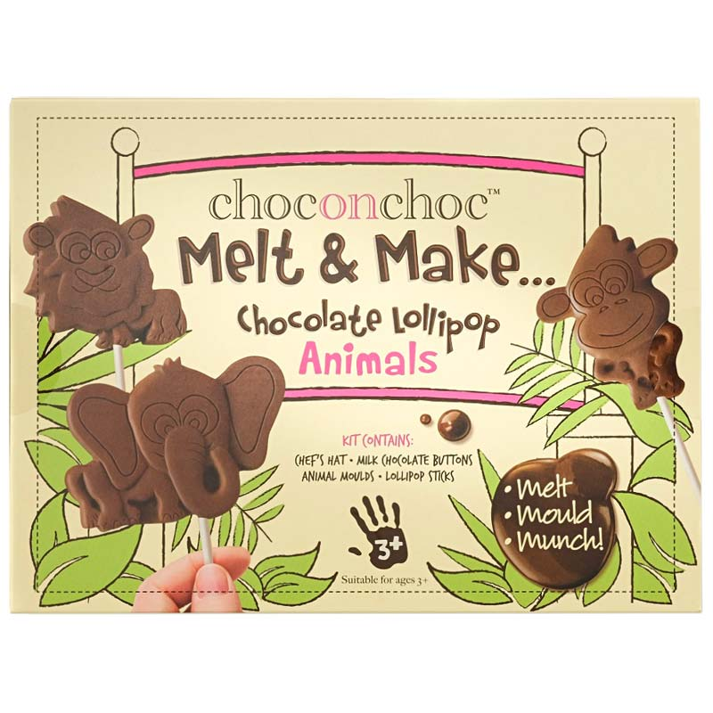 Melt and Make Your Own Chocolate Animal Lollipops